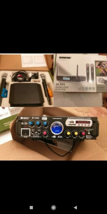 350azn !!!!karoke aparatıdır.iki uzaqdan idarəli mikrofon,auks