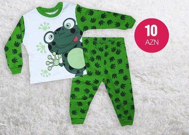 детские вещи платья в Азербайджан: Növ: PijamaCins: Qız, oğlanRəng: YaşılÖlçü: 1-2-3 yaşİstehsal