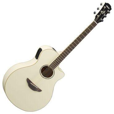 Музыкальные инструменты - Бишкек: Электроакустическая гитара yamaha apx600 vintage whiteyamaha apx600