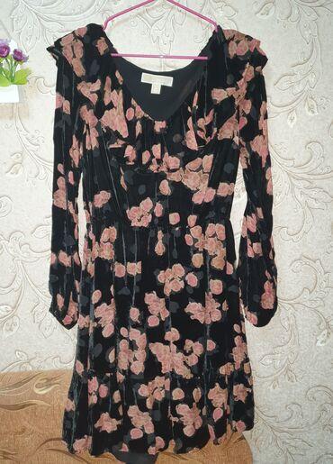 Красивое бархатное платье Michael Kors.Размер S. Длина от плеча до