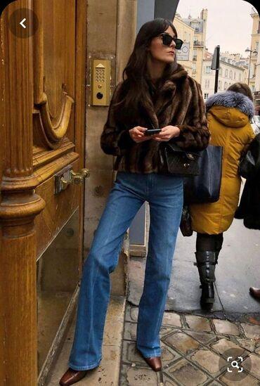 36 размер в Кыргызстан: Продаю абсолютно новые джинсы Zara, синие немного потертые, клёш от бе