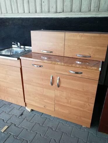 Город Токмок. Продаётся новый кухонный гарнитур. Стол: длина 1м.