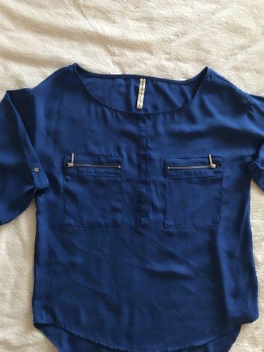 рубашка синего цвета в Кыргызстан: Брендовая блузка! цвет индиго! безумно красивая! новая! размер 42/44
