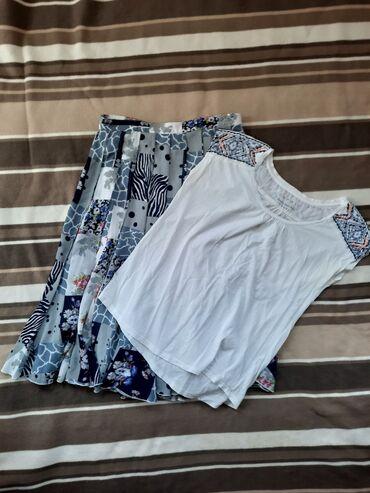 Komplet suknja i Esprit boho majica sa vezom i perlama na ramenima