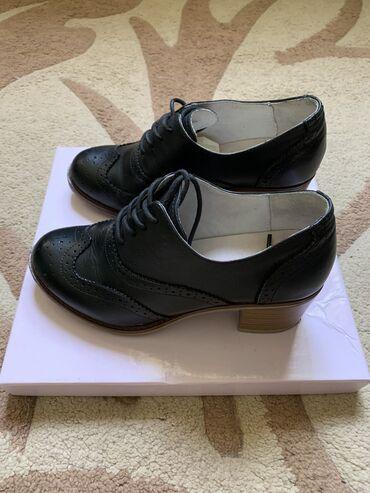 оксфорды в Кыргызстан: Оксфорды на небольшом каблуке из натуральной кожи в отличном состоянии