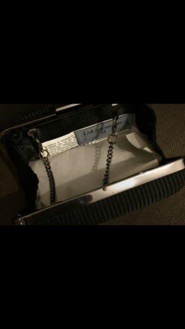 Μαύρο σατέν βραδυνό clutch τσαντάκι , με έξτρα μακρυά αλυσίδα . Ολοκαί σε Υπόλοιπο Αττικής - εικόνες 3
