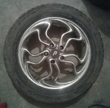Продаю хромированные диски с резиной. параметры: r17 215/60. в Бишкек
