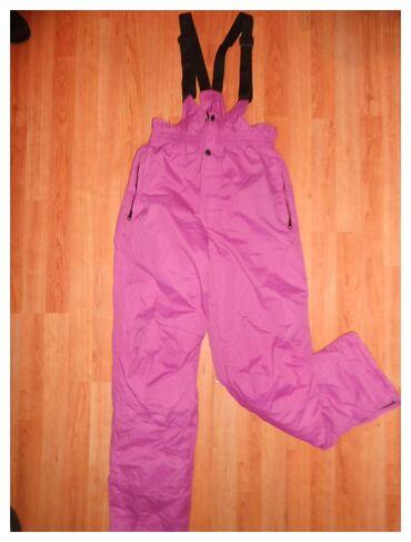 Pantalone ski obim - Srbija: Ski pantalone roze tkz.poluskafander vel. 12 dimenzije su sledece duzi