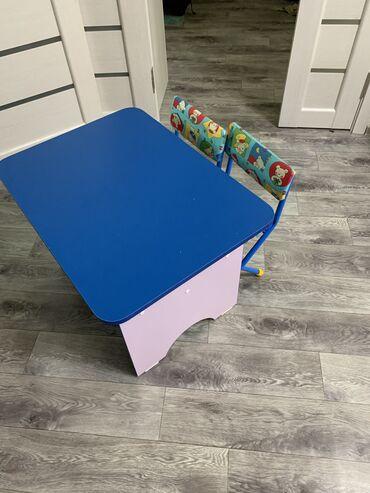 Столик детский состояние идеальное +2 стула