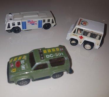Automobilcic hitna pomoc, vojnicki auto i autobus. Cena za komad - Beograd