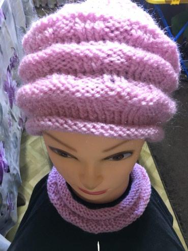Новая женская вязаная шапка, розового в Бишкек