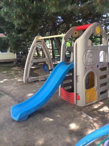 Детский мир - Бостери: Новая детская площадка (домик, горка, 2-качели)