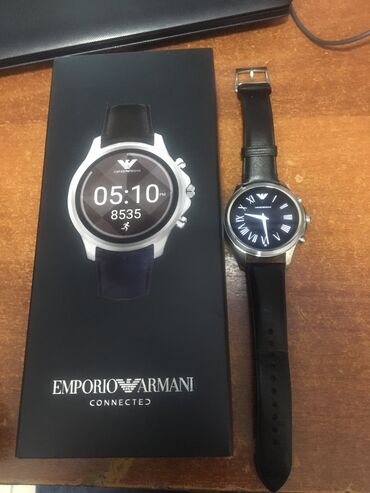 emporio armani odezhda muzhskaja в Кыргызстан: Серебристые Мужские Наручные часы Armani