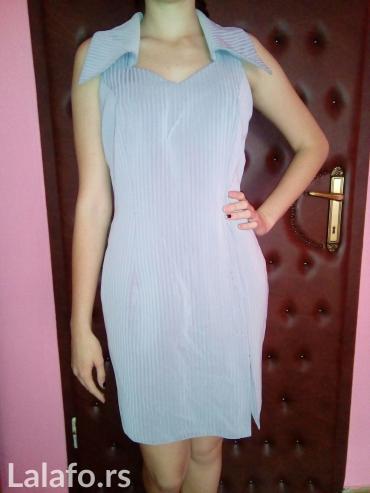 Haljina gratis - Srbija: Poslovna haljina sive boje, velicina m/l. Proizvodjac: fabrika Prvi