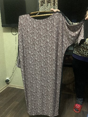 белое длинное платье с рукавами в Кыргызстан: Платье Свободного кроя Adl 7XL