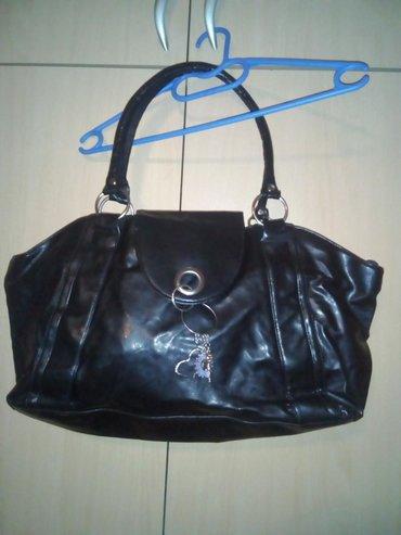 Novo!!! Ženska tašna od skaja, crne boje, prostrana, sa jednim