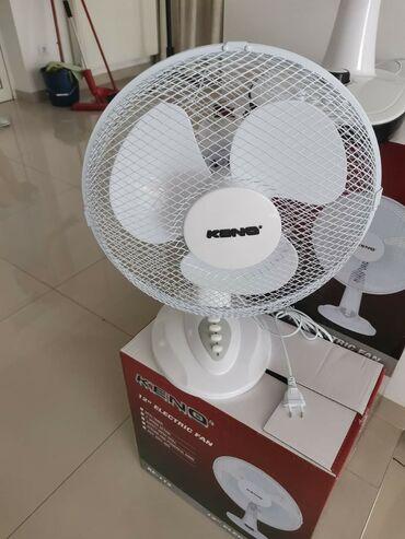 Klimatska oprema   Srbija: Tip: Stoni ventilatorBoja: Bela3 brzine3 propeleraZaštitna mrežaŠirok