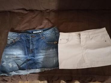 Teksas suknjica - Srbija: Dve suknjice, S veličina, teksas je terranova, druga je kvalitetna