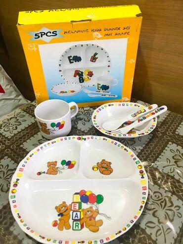 тарелка блюдце в Кыргызстан: Детский набор посуды в подарочном виде. Совсем новые, не использовали
