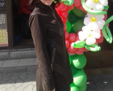 Плащи в Кыргызстан: Куртка из эко кожи. б/У. Состояние новой вещи. Размер 42-44. Отдам за