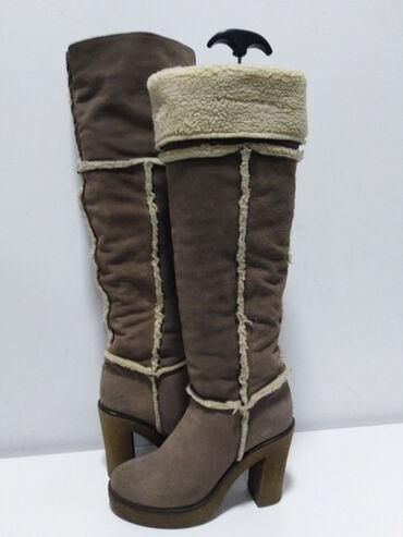 Pre - Srbija: AZZURRA ITALY original čizme iznad kolena,prirodna 100% koža i unutra