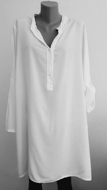 Dresovi - Srbija: Tunika haljina 46 cena 900vidkozaidealn za plazu,sirina ramena 46