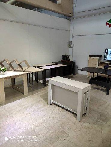 стол трансформер чёрного цвета в Кыргызстан: Стол-трансформер длина 3 метра
