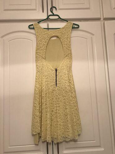 Προσωπικά αντικείμενα - Ελλαδα: Φόρεμα κίτρινο με δαντέλα και ανοιχτή πλάτη  Μέγεθος : medium