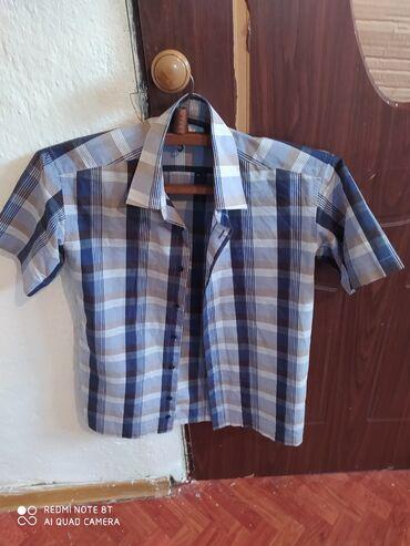 Рубашка летняя мужская - Кыргызстан: Фирменный летний мужские рубашки отличный состояния размер 46-48 прошу