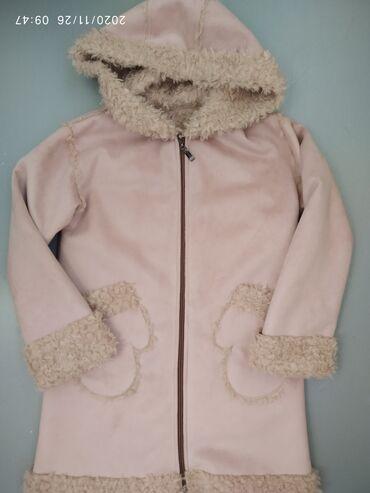 Пальто новое! Деми На 6-8 лет Пудрового цвета