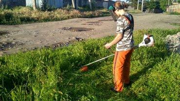Очистка территории. косим траву, в Бишкек