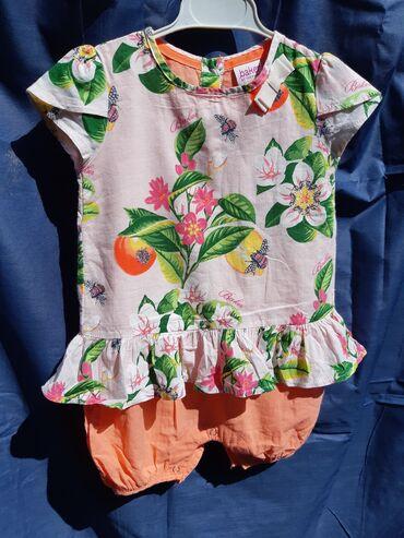детские в Кыргызстан: Детское платье-комбинезон на девочку 9-12 месяцев * Бренд: Ted Baker