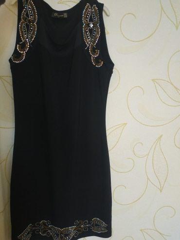 Платье чёрное, вечернее, до колена. размер 46, 700 сом в Бишкек