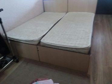 Продаю кровать 2 шт с матрцом отличном в Бишкек