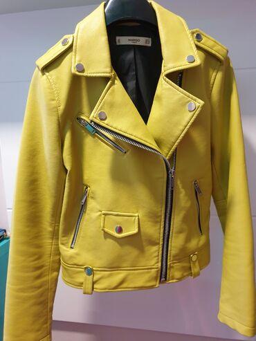 Dimenzije - Srbija: Mango kozna jakna vel S. Dimenzije sirina ramena 39 cm duzina jakne 52