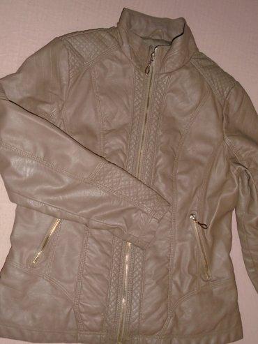 Bež/braon jakna od eko kože, strukirana, lepo stoji, veličine xl. - Beograd
