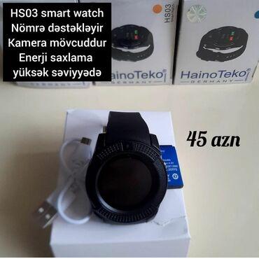 Ağıllı saat . HS03 smart watch . Nomre dəstəkləyir. kamera mövcuddur