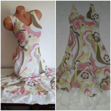 Haljine | Obrenovac: Romantična haljina vel 40 ili LKarneri, pastelne boje, prati liniju