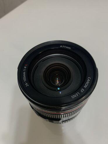 Объективы и фильтры - Кыргызстан: Продаю объектив Canon EF 24 - 105 f4 L