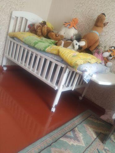 Детская кроватка очень удобная раздвижная высота регулируется