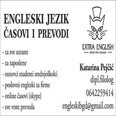Knjigovodstvene usluge - Srbija: Casovi engleskog, poslovni engleski, prevodilacke usluge, pripreme za