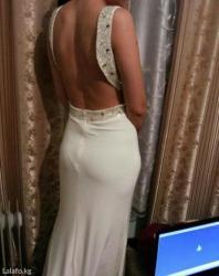 аялзат в Кыргызстан: Шикарное платье цвета айвори размер 44-48 тянется, камушки под