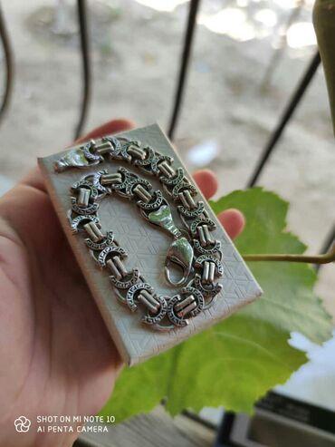 Zinət əşyaları Sumqayıtda: Gümüş qolbaq kişi üçün