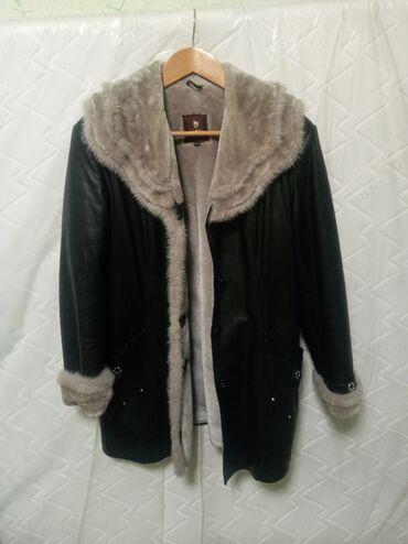 Куртки - Кок-Ой: Кожаный куртка,8000сом,натуральный мех