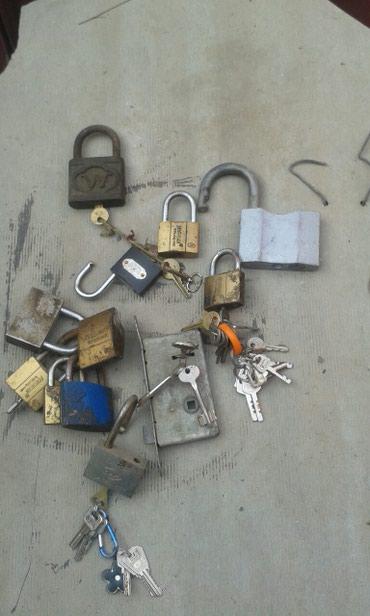 Продаю 11 навесных замков с ключами и в Бишкек