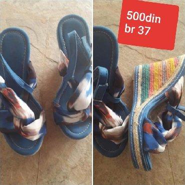 Ženska obuća | Novi Becej: Sandale na plut. br 37. cena 500