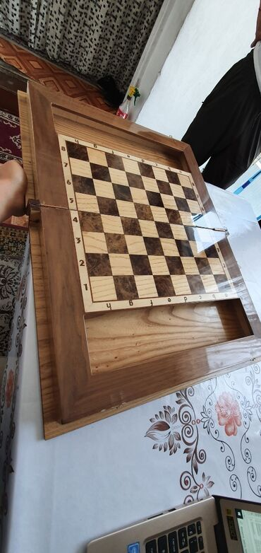 "Шахматы - Кыргызстан: Шахматы из дерева""Кочевник"". Ручная работа"