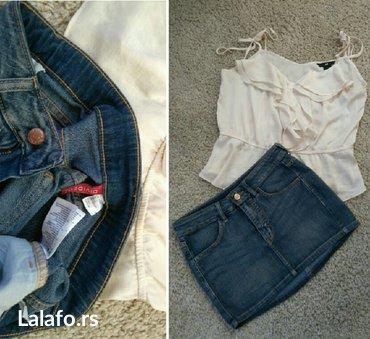 Teksas suknjica - Srbija: H & M teksas suknjica. Sastoji se od sledećih materijala: 69%