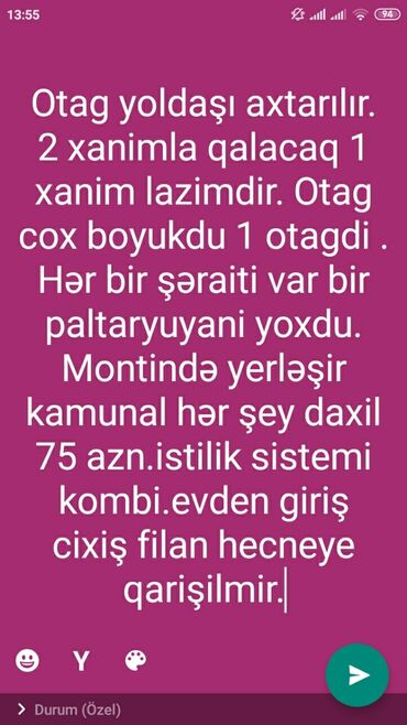 qaynaqci axtarilir 2018 - Azərbaycan: İcarəyə verilir Evlər mülkiyyətçidən Uzunmüddətli: 55 kv. m, 1 otaqlı