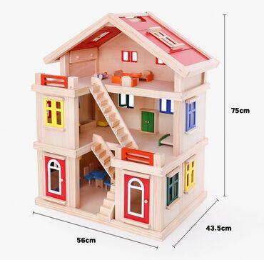 Taxta Oyuncaq Ev ( Wooden Doll House)➙ Qiyməti: 380 Azn➙ Çatdırılma və